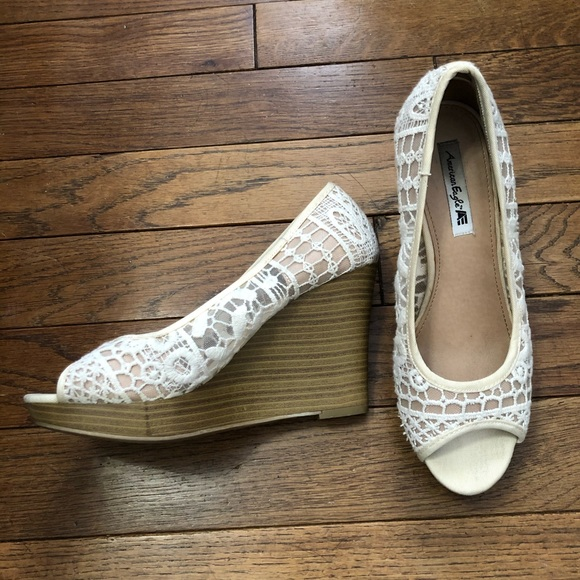 American Eagle Outfitters Shoes - American eagle wedged heels